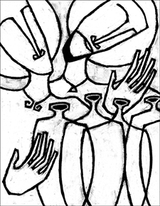 Epiphany 2 blessing the water the wine the painted for Wedding at cana coloring page